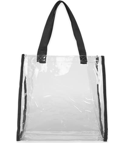 Clear Game Day Tote - Clear / Black