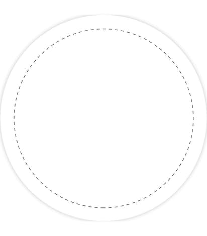 Full Color 2 in. Circle Magnet - White