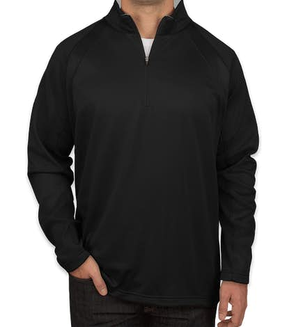 Sport-Tek Quarter Zip Performance Sweatshirt - Black / Silver