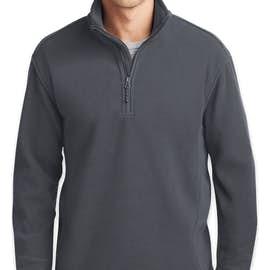Port Authority Value Quarter Zip Fleece Pullover - Color: Iron Grey