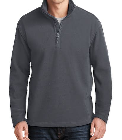 Port Authority Value Quarter Zip Fleece Pullover - Iron Grey