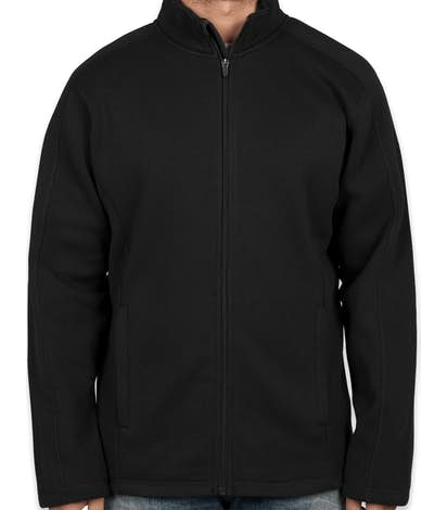 Devon & Jones Full Zip Sweater Fleece Jacket - Black