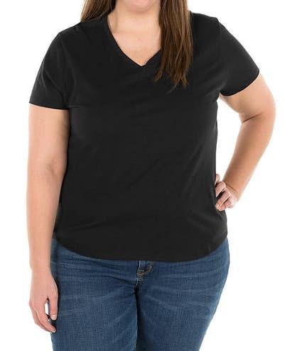 93dd32de0dcc5 Design Custom Printed Hanes Ladies Just My Size Plus V-Neck T-shirts ...