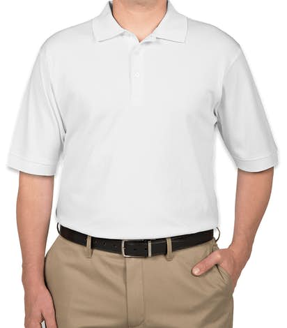 Devon & Jones Pima Interlock Polo - White