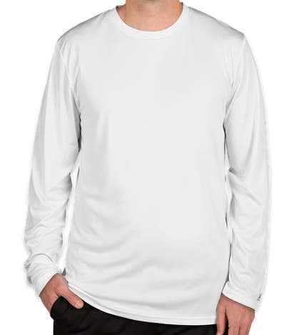 Russell Athletic Dri Power® Long Sleeve Performance Shirt - White