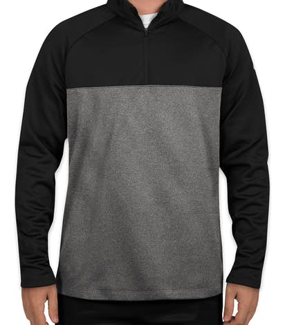 Custom Nike Therma-Fit Color Block Half Zip Fleece - Design Quarter ... 43979a4d8247