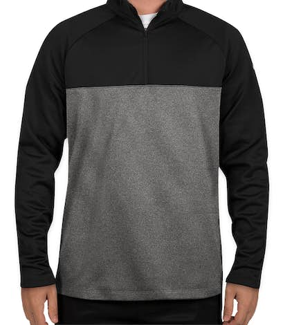Nike Therma-Fit Color Block Half Zip Fleece - Black/ Dark Grey Heather