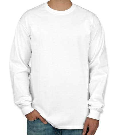 Hanes ComfortSoft® Long Sleeve Tagless T-shirt - White
