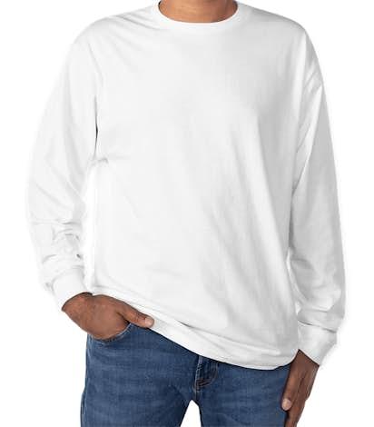 Hanes Long Sleeve Tagless T-shirt - White