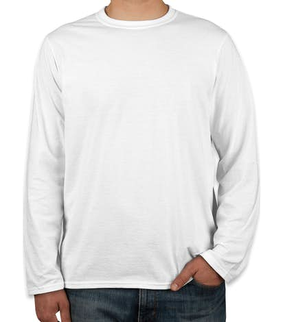 Canada - Gildan Softstyle Long Sleeve Jersey T-shirt - White