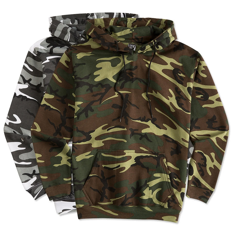 Code 5 Camo Pullover Hoodie
