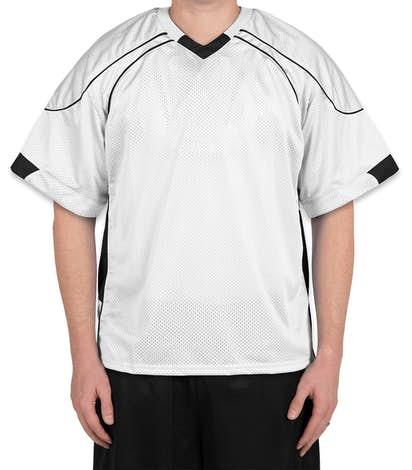 Teamwork Cross Check Lacrosse Jersey - White / Black