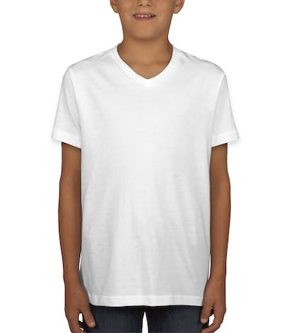 Bella + Canvas Youth Jersey V-Neck T-shirt - White