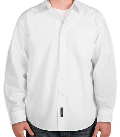 Port Authority Long Sleeve Easy Care Shirt - White / Light Stone