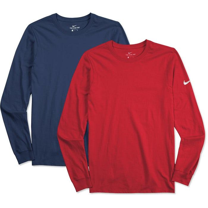a9923862bfed Custom Nike 100% Cotton Long Sleeve T-shirt - Design Long Sleeve T ...