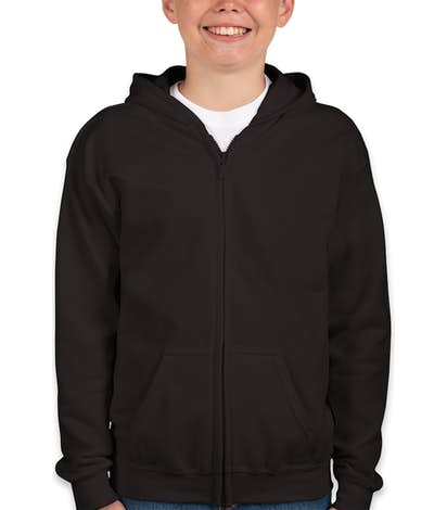 Canada - Gildan Youth Midweight Zip Hoodie - Black