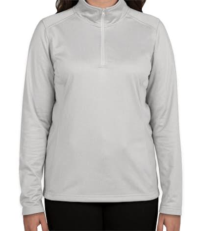 The North Face Women's Tech Quarter Zip Fleece Pullover - Light Grey Heather