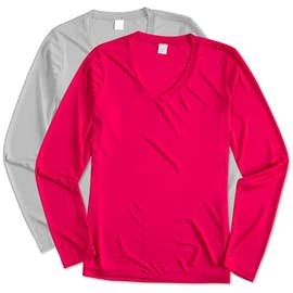 Sport-Tek Women's Competitor Long Sleeve V-Neck Performance Shirt