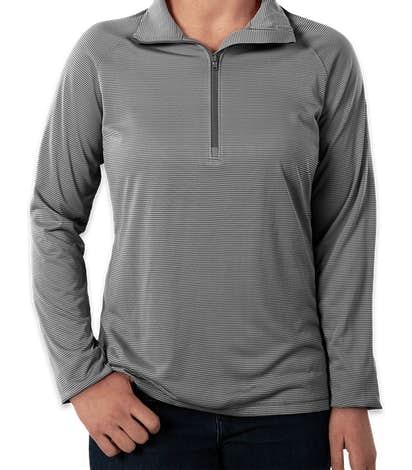 Under Armour Women's Tech Stripe Quarter Zip Performance Shirt - Graphite