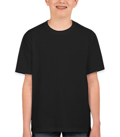 Canada - Fruit of the Loom Youth 100% Cotton T-shirt - Black
