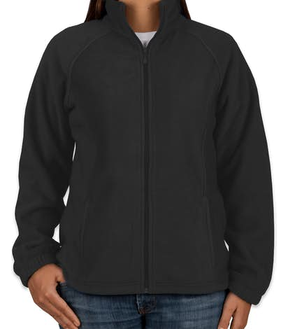 Harriton Women's Full Zip Fleece Jacket - Black