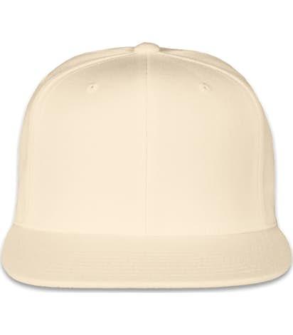 Yupoong Flat Bill Snapback Hat - Natural