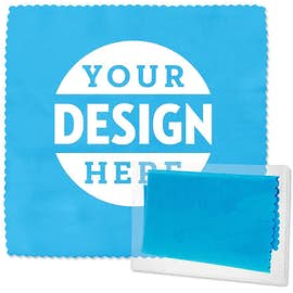 Full Color Microfiber Cleaning Cloth with Case