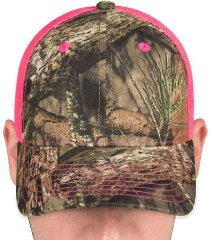 Outdoor Cap Neon Camo Trucker Hat - Country / Neon Pink