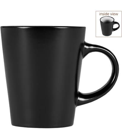 12 oz. Ceramic Two-Tone Noir Mug - Black / White