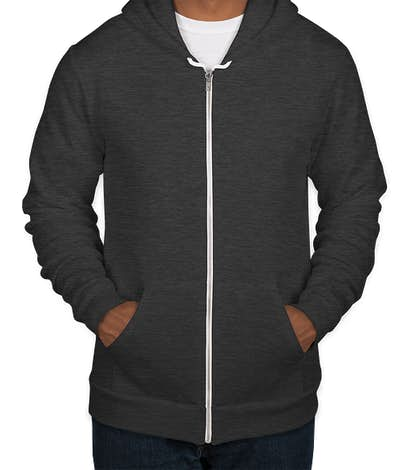 American Apparel USA-Made Flex Fleece Zip Hoodie - Dark Heather Grey