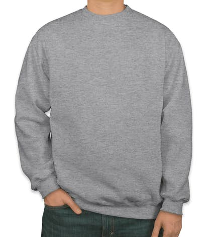 Bayside Heavyweight USA Crewneck Sweatshirt - Dark Ash