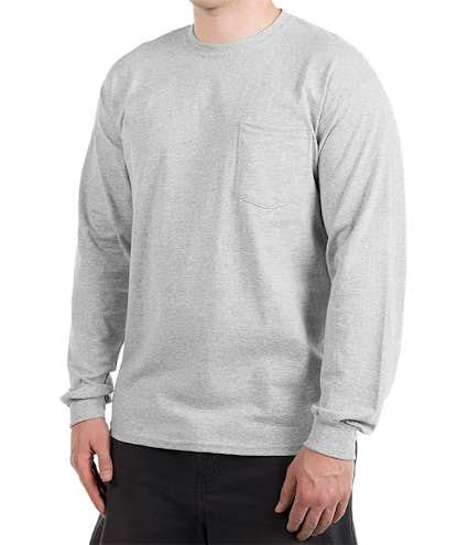 01fd75f7a6e Canada - Gildan Ultra Cotton Long Sleeve Pocket T-shirt - Other View  1