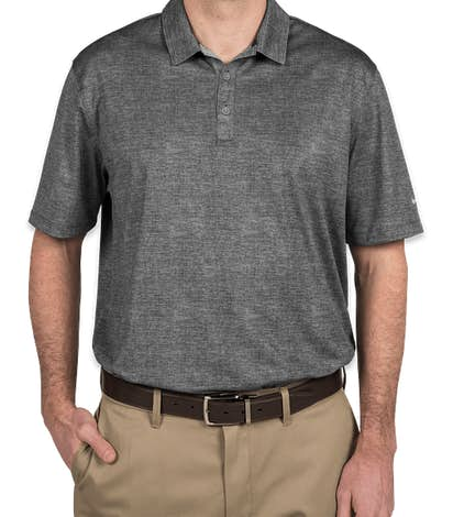 Nike Golf Dri-FIT Crosshatch Performance Polo - Cool Grey / Anthracite