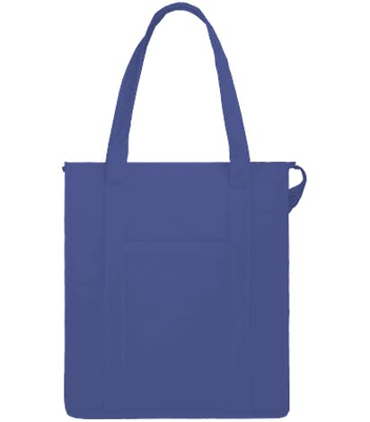 Hercules Zippered Insulated Grocery Tote - Royal Blue