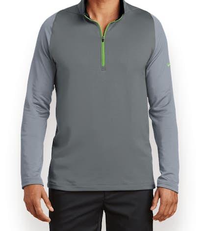 Nike Dri-FIT Stretch Quarter Zip Pullover - Dark Grey / Cool Grey / Volt