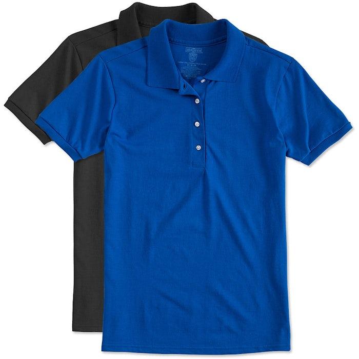 76883479 Custom Jerzees Women's Spotshield 50/50 Jersey Polo - Design Women's ...