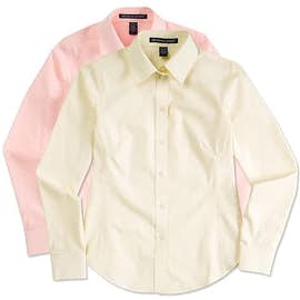 Devon & Jones Women's Solid Dress Shirt