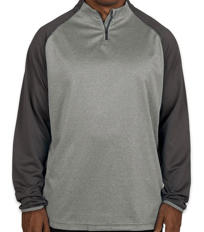 Augusta Reflective Quarter Zip Performance Shirt - Slate / Graphite Heather