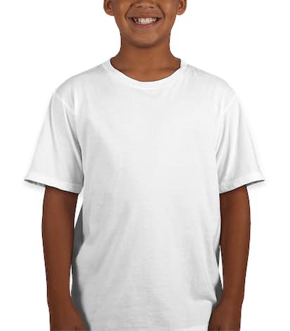 Anvil Youth Jersey T-shirt - White
