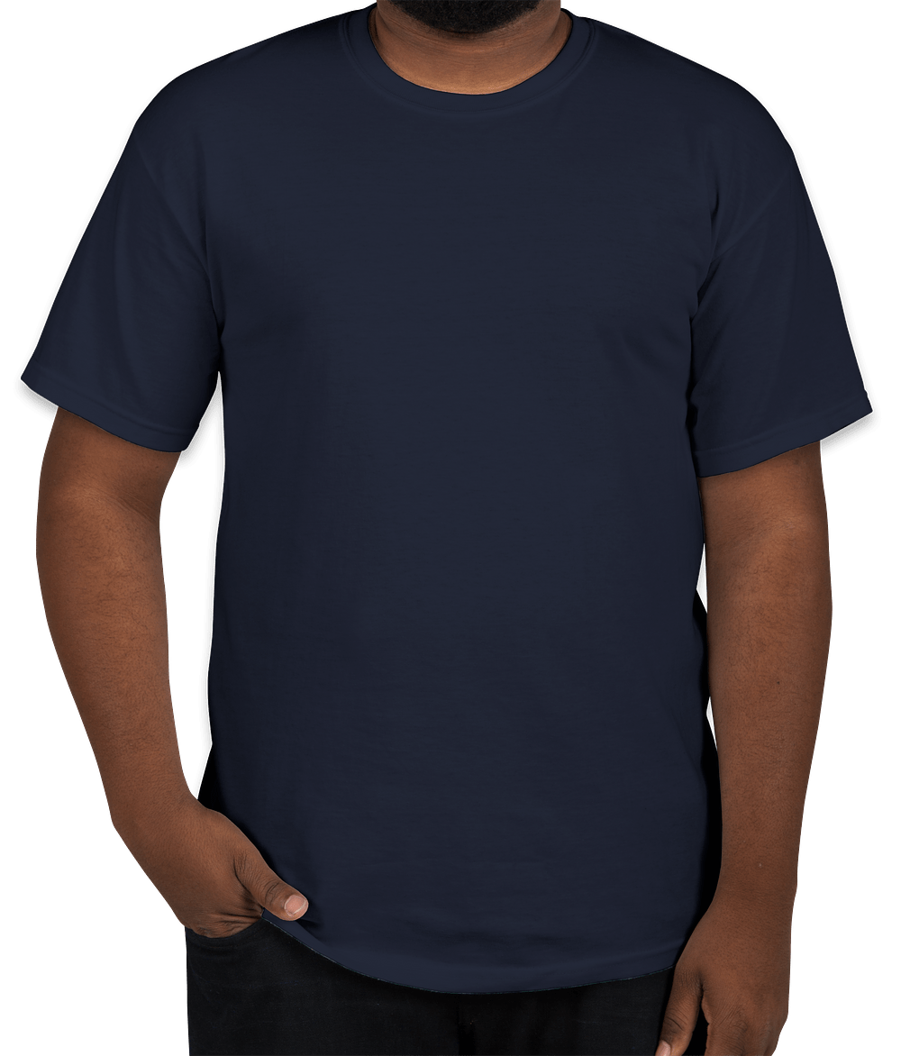 Gildan Ultra Cotton T Shirt   Navy. Start Designing