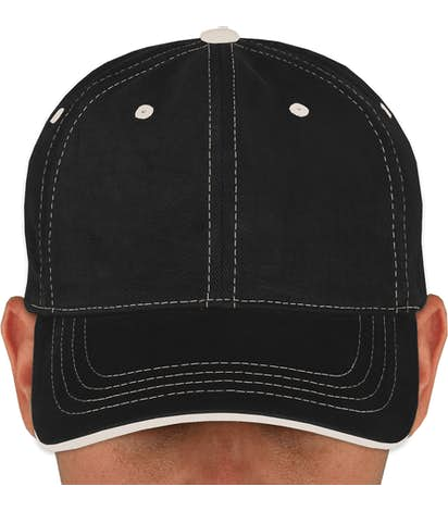 Yupoong Contrast Stitched Hat - Black / Stone