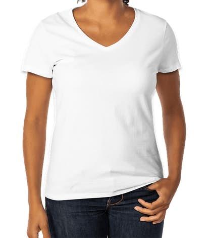 Hanes Women's V-Neck Nano-T - White