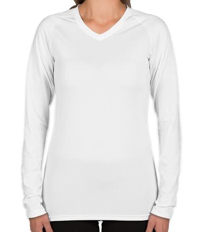 Augusta Juniors Long Sleeve Volleyball Jersey - White