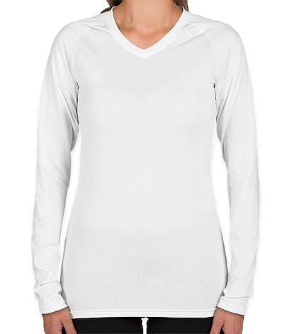 Augusta Women's Slim Fit Long Sleeve Volleyball Jersey - White