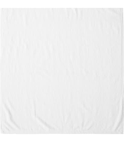 Heavyweight Embroidered Beach Towel - White