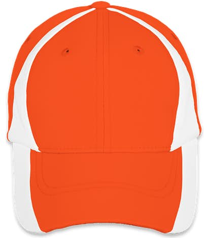 Sport-Tek Colorblock Performance Hat - Orange / White