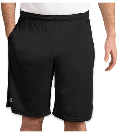 Russell Athletic Essential Performance Shorts with Pockets - Black