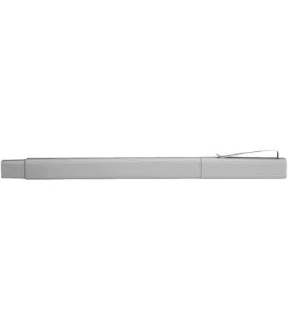 Ambassador Square Ballpoint Pen (black ink) - Silver