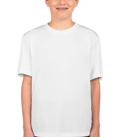 Hanes Youth Cool Dri Performance Shirt - White