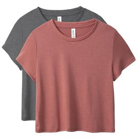Bella + Canvas Women's Flowy Crop T-shirt